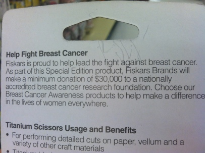 "Again, always read the print on the package if you really want to raise ""awareness""."